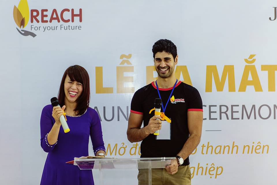 Tam at a REACH event