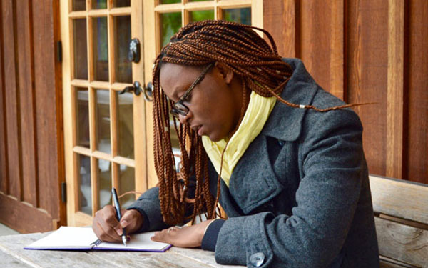 Patience journaling at a Perennial retreat